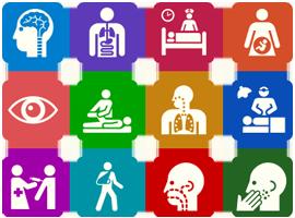 診療科目別の豊富なコンテンツ